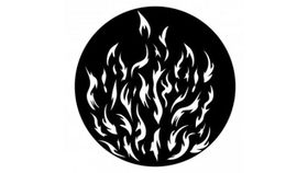 Image of a Breakup Camp Fire Gobo