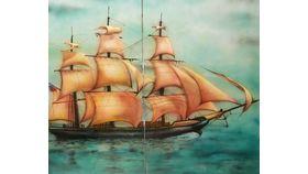 Image of a Clipper Ship Flat