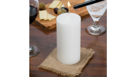 "Image of a 6 1/2"" White Pillar Candle"