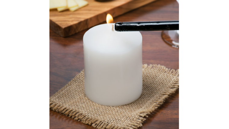 "Picture of a 3 1/2"" White Pillar Candle"