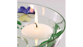 "Image of a 3"" White Floating Candle"