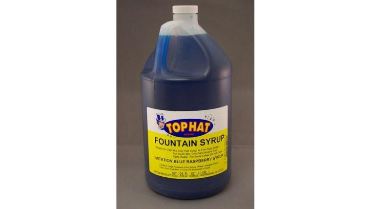 Picture of a Blue Raspberry Snow Cone Syrup