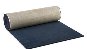 Image of a 25ft Navy Blue Carpet Runner