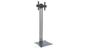 "Image of a Tall TV Stand with Rotating Bracket Fits Monitors 32""-70"" - Black"