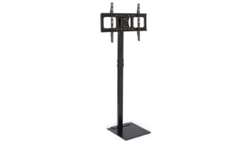 "Image of a TV Stand with Tilting & Swiveling Bracket, Fits Monitors 32""-70"" - Black"