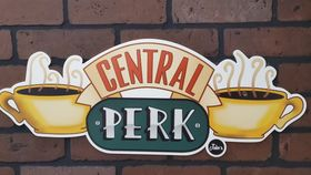 "Image of a ""Friends"" Central Perk Brick Wall"