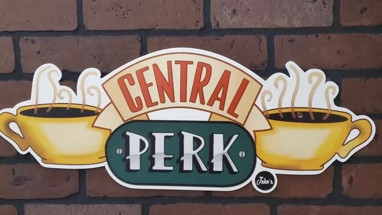 """Picture of a """"Friends"""" Central Perk Brick Wall"""