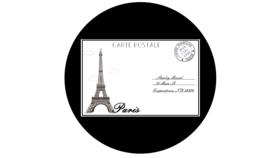 Image of a ADJ Paris Postcard Gobo - Hi Res