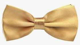 Image of a Gold Bow TIe