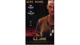 Image of a Giant G.I. Jane Movie Poster