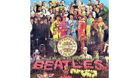Image of a Giant Beatles Lonely Hearts Album Cover