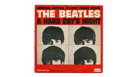 Image of a Giant Beatles Hard Day's Night Album Cover