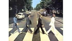 Image of a Giant Beatles Abby Road Album Cover