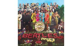 Image of a Giant Beatles Sgt Pepper Album Cover