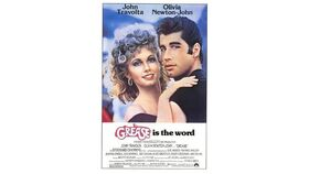 Image of a Giant Grease Movie Poster