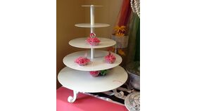 Image of a 4 Tier Cup Cake stand White