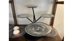 Image of a 6 Platter stand Black/clear