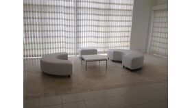Image of a 6' Serpentine Couch- White