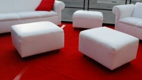 Image of a 2' x 2' Ottomans -White