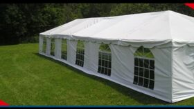 Image of a 20' Clear Cafe Style Sidewall - 8' High