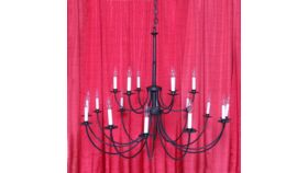 Image of a Chandelier Black Iron 18-Light
