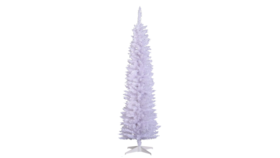 Image of a 6ft Artificial White Christmas Tree with White Lights