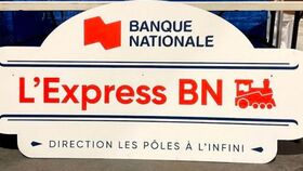 Image of a Affiche L'EXPRESS BN 65'' x 30''