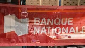 Image of a Banderole mesh - Banque Nationale - 3'x10'