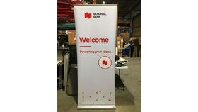 Image of a Roll-Up - Welcome - fond bleu - ANG