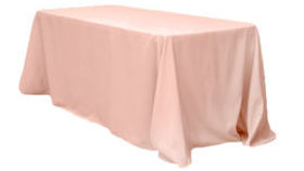 Image of a 8FT Blush Poly Tablecloths
