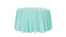 """Image of a 132"""" Polyester Turquoise Tablecloth"""