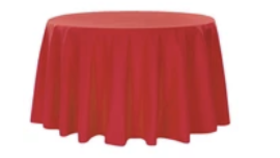 """Image of a 132"""" Round Polyester Red"""