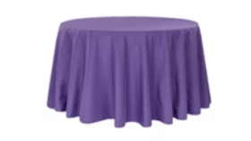 """Image of a 132"""" Round Polyester Purple"""