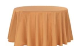 "Image of a 132"" Round Polyester Burnt Orange"