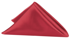 "Image of a Apple Red Satin Satin Cv Linens 20"" 20"" Napkins"