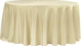 Image of a 132' Champagne Lamour Cvlinens Tablecloths