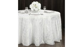 Image of a 132' White Pintuck Tablecloths
