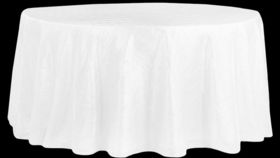 Image of a 132' White Pintuck Cvlinens Tablecloths