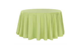 Image of a 132' Apple Green Polyester Cvlinens Tablecloths