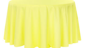 Image of a 132' Yellow Polyester Cvlinens Tablecloths