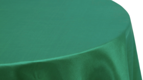 Image of a 132' Emerald Green Satin Tablecloths