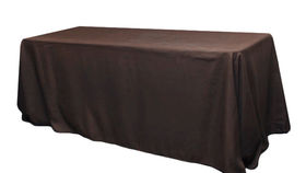 Image of a 8FT Brown Polyester  Tablecloths