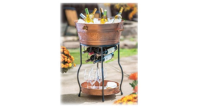 Image of a Party Ice Bucket w/Stand - Copper