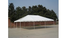 Image of a 20' by 30' white frame tent