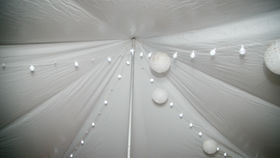 Image of a LED Crystal Globe white string lighting