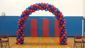 Image of a Balloon Arch - Classic Double Door Walkway - Framed