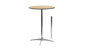 "Image of a 30"" Round Table (cocktail/standing or bistro/sitting)"