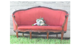 Image of a Antique Burgundy Loveseat