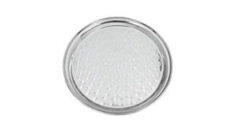 """Picture of a 14"""" Round Silver Serving Tray #4884"""