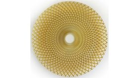 """Image of a 13"""" Round Glass Gold Swirl Charger"""